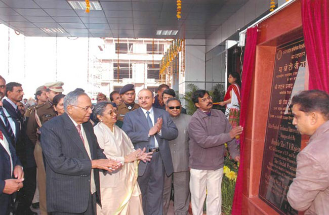 Inauguration of U.P. Technical University, Noida Campus Building by His Excellency Sri. T.V. Rajeswer, the Governor of Uttar Pradesh and Hon'ble Chancellor of the University on 14th February, 2008.